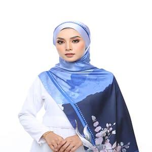 tudung satin shawl