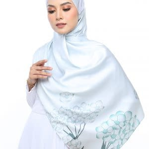 tudung satin shawl KL